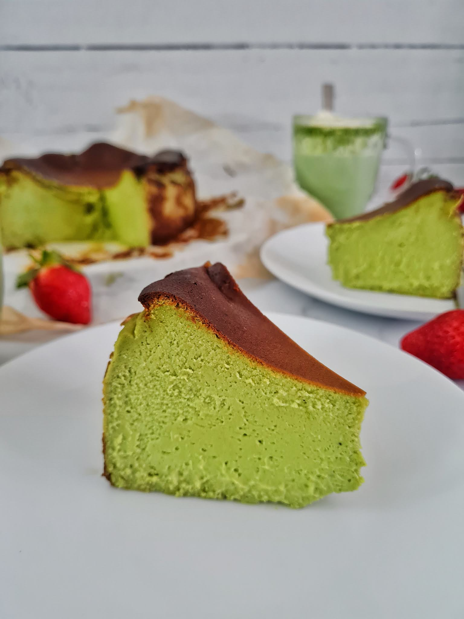Matcha Burnt Basque Cheesecake Recipe