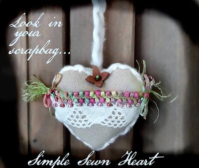 diy simple sweet scrap bag hearts