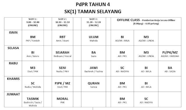 Jadual baru PdPR mula esok...