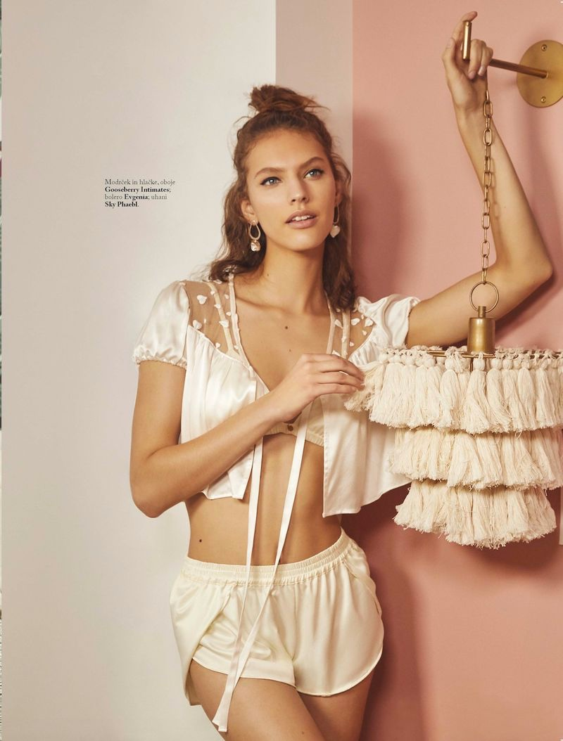 Photographer Lena Melnik captures her in lingerie inspired fashions perfect for a romantic moment