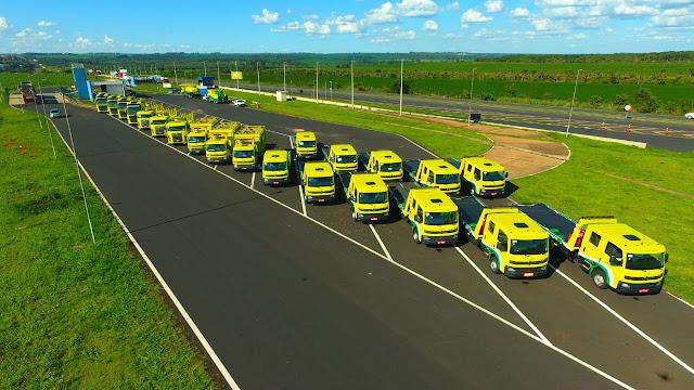 Frota de veículos da concessionária Eco050