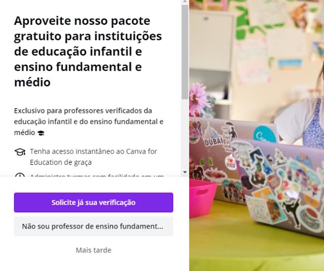 Canva Pro para os professore de forma gratuita usando o Canva For Education