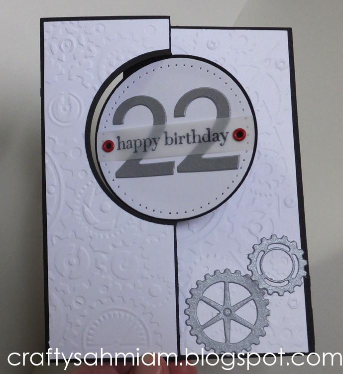 Crafty Sahm I Am Masculine 22nd Birthday Card
