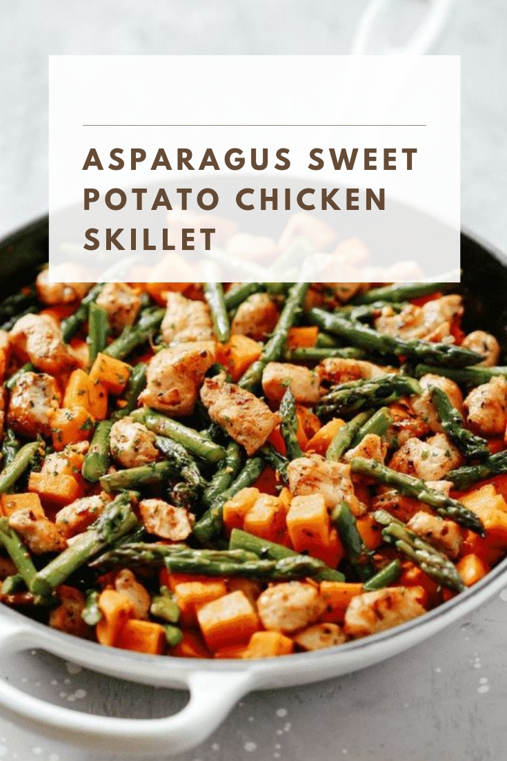 Asparagus Sweet Potato Chicken Skillet #healthyrecipeseasy #healthyrecipesdinnercleaneating #healthyrecipesdinner #healthyrecipesforpickyeaters #healthyrecipesvegetarian #HealthyRecipes #HealthyRecipes #recipehealthy #HealthyRecipes #HealthyRecipes&Tips #HealthyRecipesGroup  #food #foodphotography #foodrecipes #foodpackaging #foodtumblr #FoodLovinFamily #TheFoodTasters #FoodStorageOrganizer #FoodEnvy #FoodandFancies #drinks #drinkphotography #drinkrecipes #drinkpackaging #drinkaesthetic #DrinkCraftBeer #Drinkteaandread