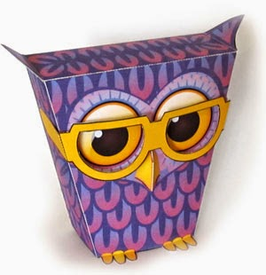 Bespectacled Owl Paper TOy