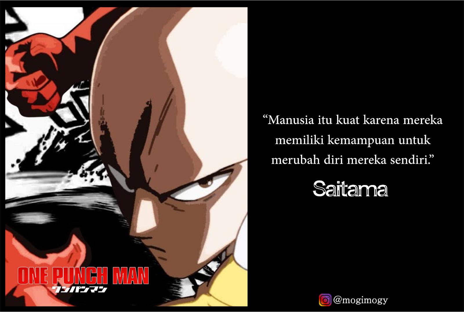 15 Quotes Bijak Dan Keren Karakter One Punch Man Mogimogy