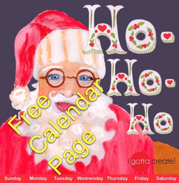 Free St. Nicholas December Calendar Page | Visit I Gotta Create!