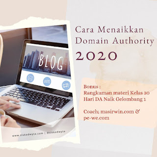 Cara menaikkan domain authority