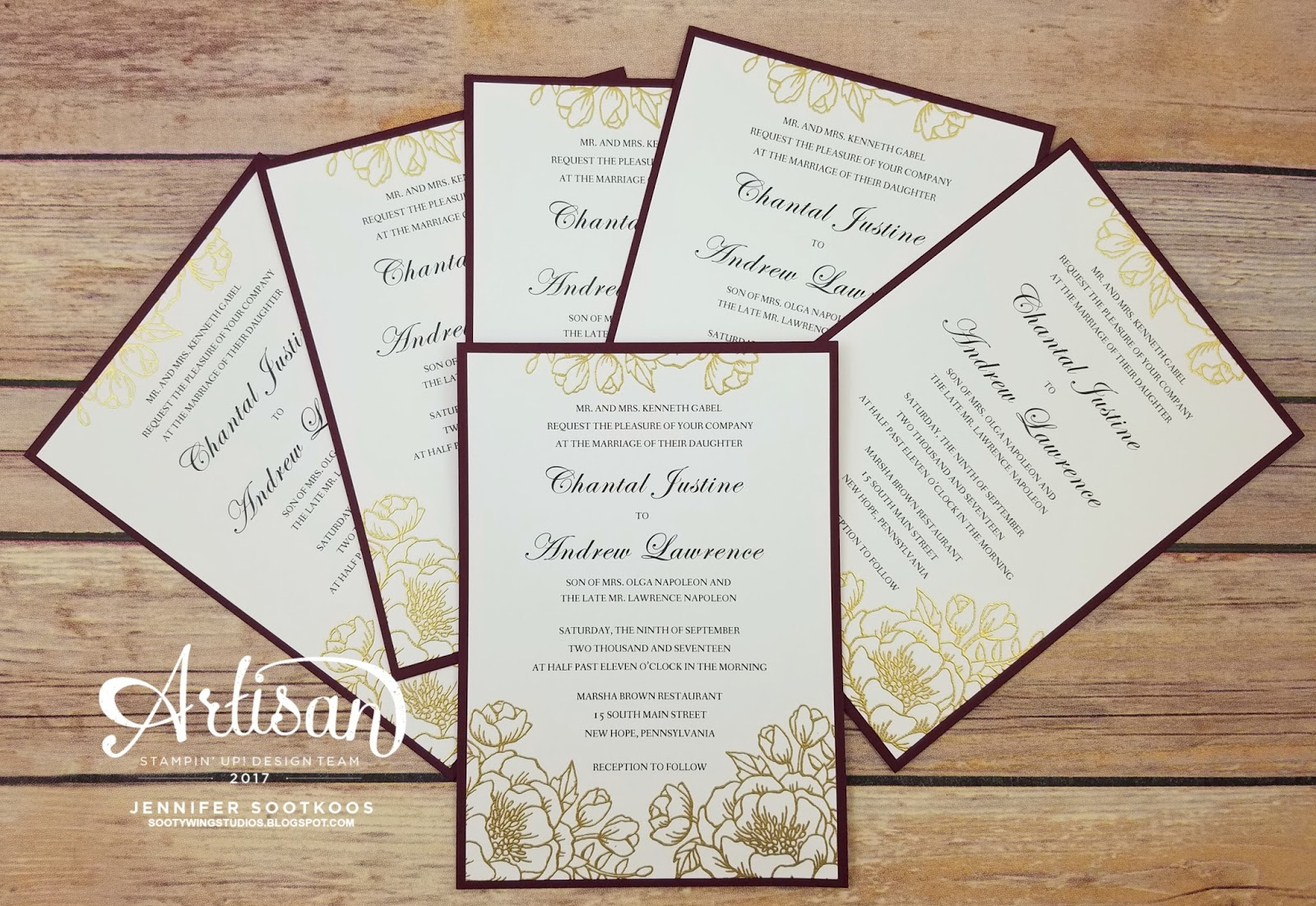 Sootywing Studios: Wedding Invitations