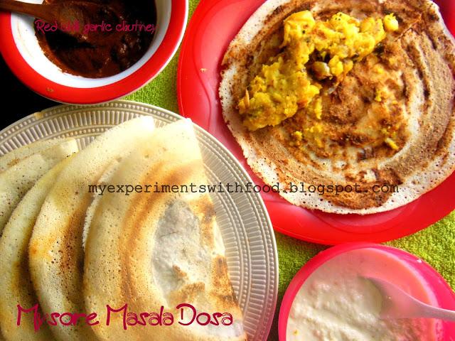 Mysore Masala Dosa- a filling tiffin….