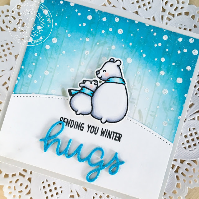 Sunny Studio Stamps: Bear Hugs Frosty Flurries Everyday Card by Mayra Duran-Hernandez