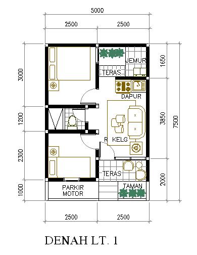 5 Contoh Denah Rumah Sederhana 2013 Inspirasi Desain Rumah