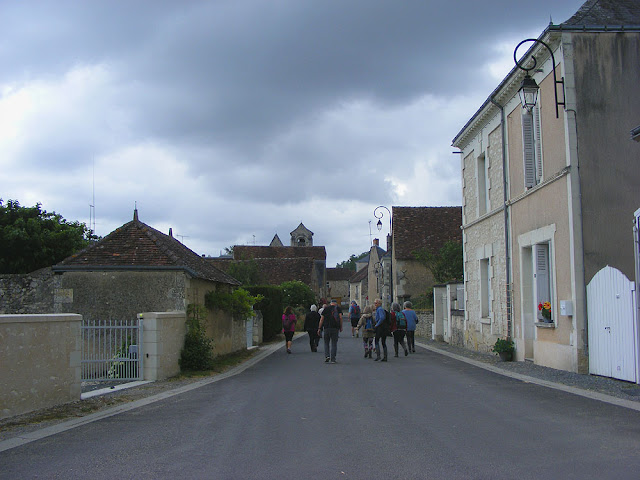 Walking through Chaumussay.  Indre et Loire, France. Photographed by Susan Walter. Tour the Loire Valley with a classic car and a private guide.