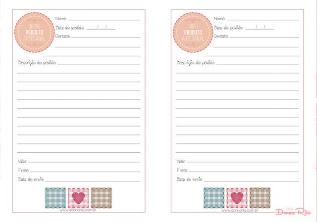 baixar caderno de pedidos