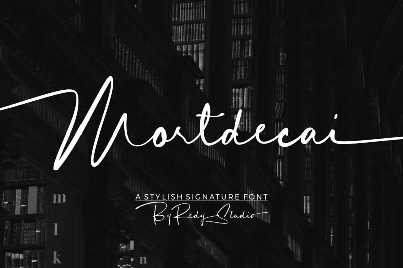 Mortdecai Font - Free Modern Signature Typeface