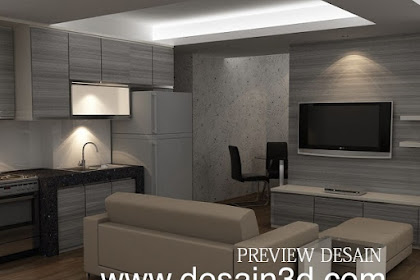 Jasa design 3dmax visualisasi interior apartemen via online