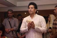 Sachin Tendulkar with his wife at Mata ka Jagrata hosted by Anu Malik 03.JPG