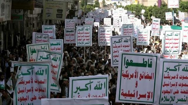 """Miles de yemeníes repudian el """"acuerdo del siglo"""" de EEUU"""