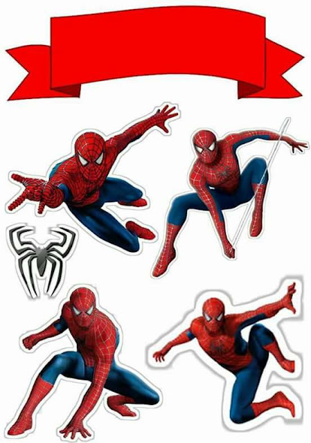 Spiderman: Free Printable Cake Toppers