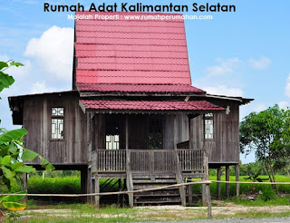 Desain Bentuk Rumah Adat Kalimantan Selatan dan Penjelasannya, Rumah Adat Bubungan Tinggi suku Banjar