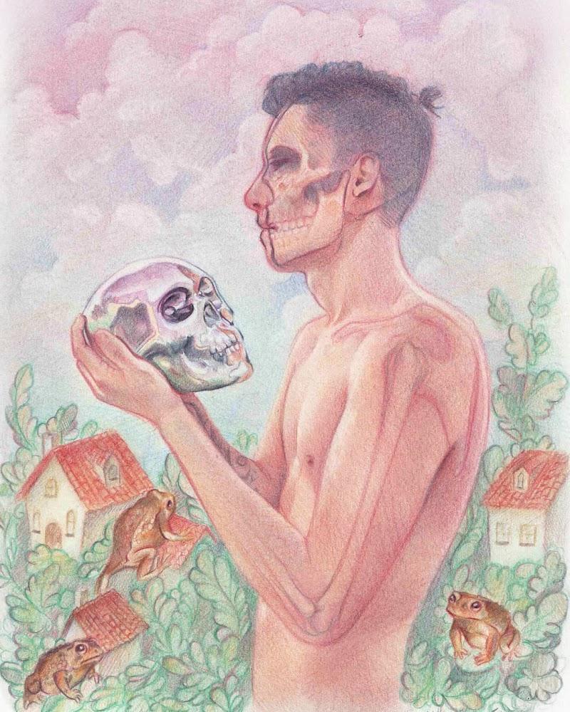 Introspección, ilustraciones sobre anatomía artística