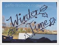Fensterbeschriftung - Winter Time