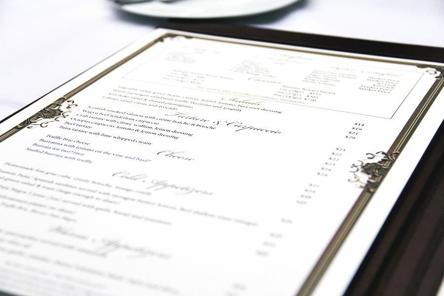 menu foodlist order