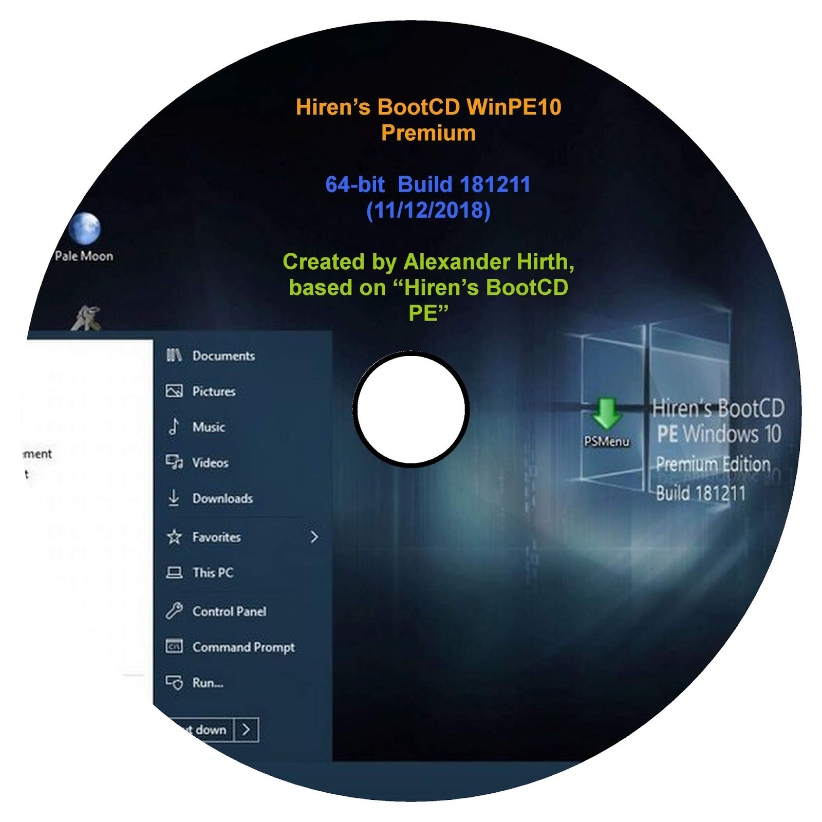 Hiren's BootCD WinPE10 Premium Edition 64-bit Build 181211