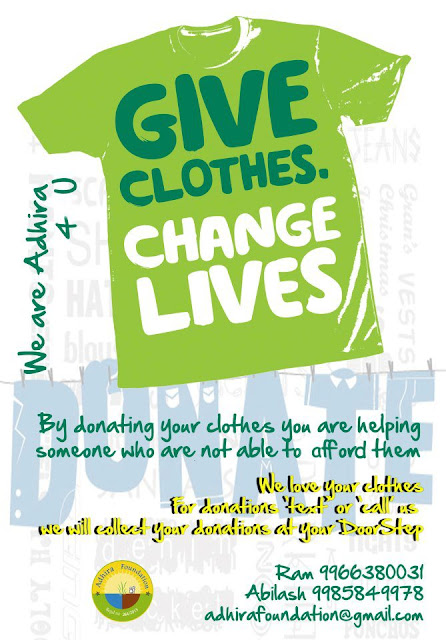 GIVE CLOTHES ADHIRA FOUNDATION