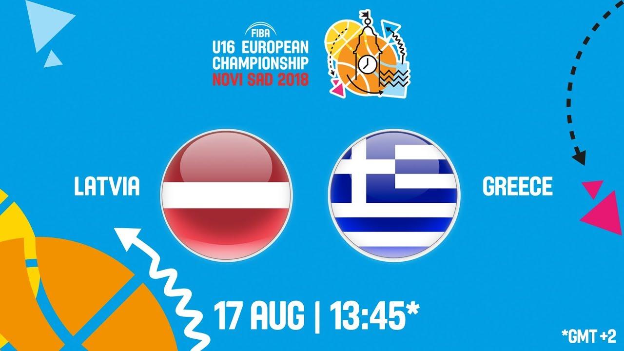 Λετονία – Ελλάδα ζωντανή μετάδοση στις 14:45 από την Σερβία (Νόβι Σαντ), για το Ευρωπαϊκό Παίδων (Θέσεις 5-8)