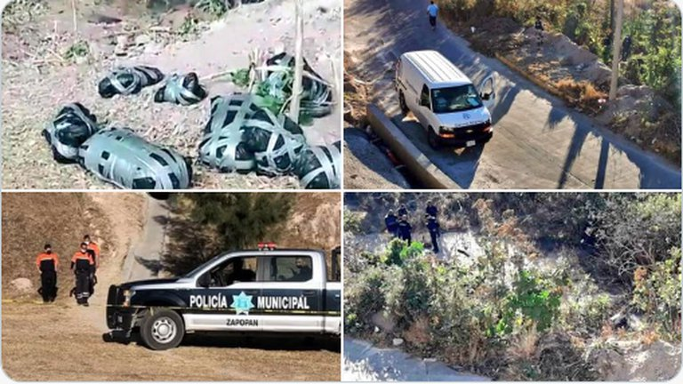 18 cadáveres y un mensaje del CJNG en Zapopan sumaron 22 bolsas con restos humanos