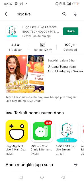 Aplikasi Bigo Live