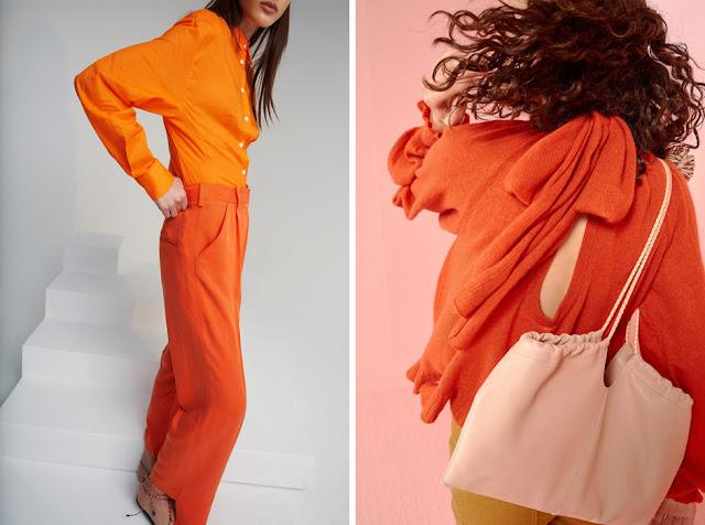 Оранжевый и красный - Модная одежда для весны и лета
