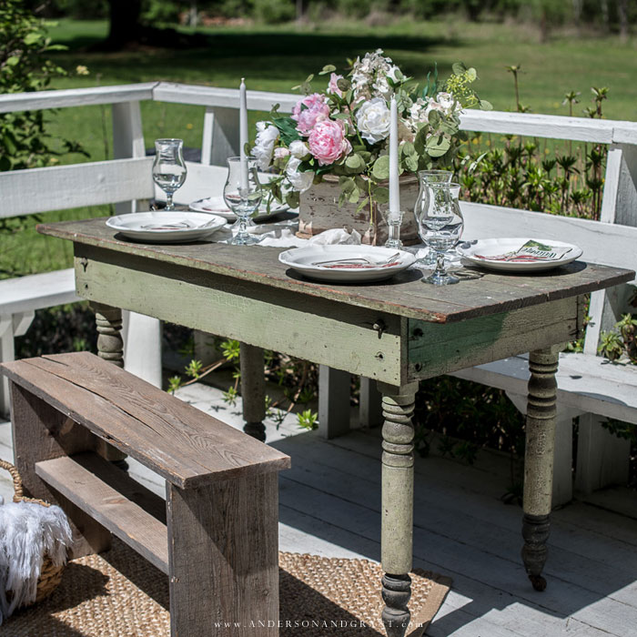 Table set for summer entertaining