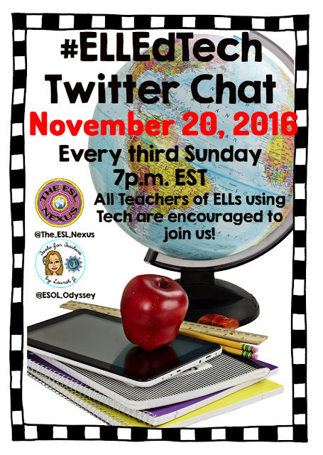 Join the November #ELLEdTech Twitter chat to discuss Tools for Teaching Tolerance, Promoting Cultural Awareness, and Countering Bullying | The ESL Connection