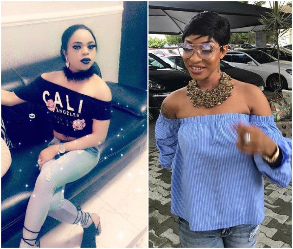 Bobrisky reaches out to Tonto Dikeh over viral video of her slapping her husband