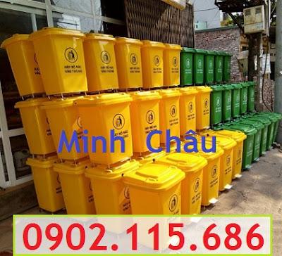 Thùng rác nhựa 60l, thùng rác nhựa 60 lít, thùng rác 60l nắp đạp chân, thùng rác 60l nắp bập bênh, thùng rác 60l có bánh xe, 1