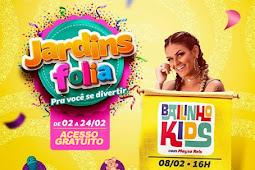 Maysa Reis e DJ Lôra anima bailinho de carnaval no Shopping Jardins
