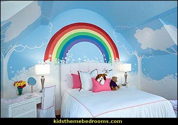 cloud wall decoration  loud wall decals rainbow bedroom decorating rainbow bedroom ideas