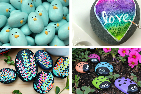 Simple rock painting ideas for beginners or children