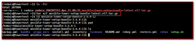 Ansible pkg extract