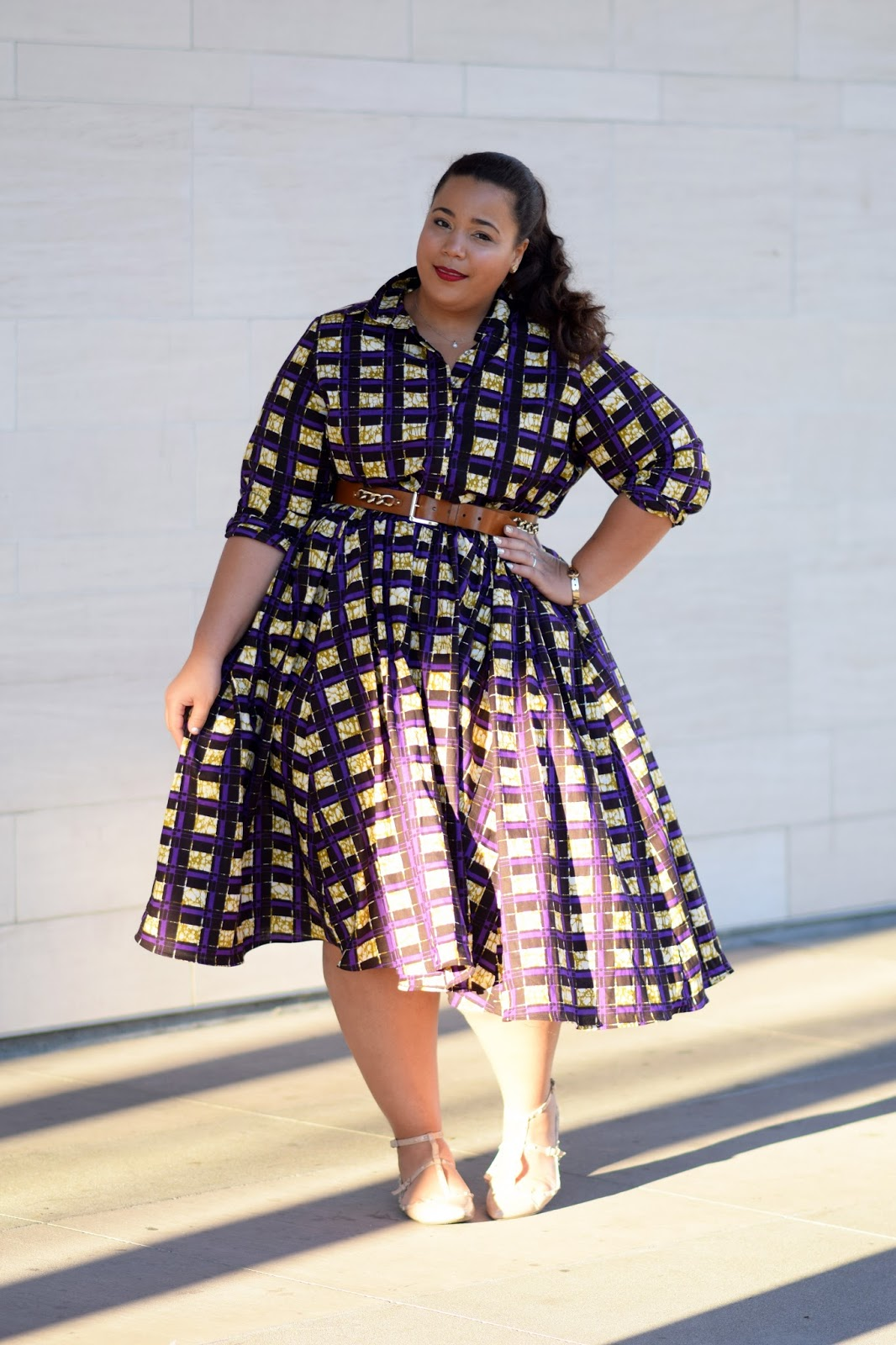 Plus size African print dress