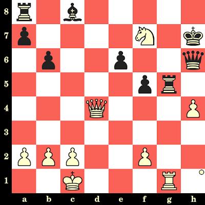 Les Blancs jouent et matent en 4 coups - Lawrence Day vs E Kann, Lugano, 1968
