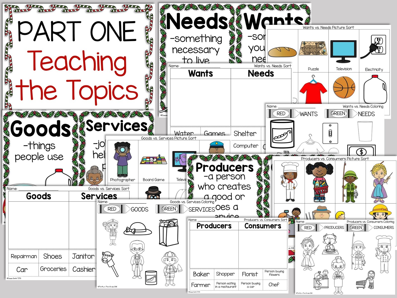 small resolution of Holiday Economics {North Pole Workshop} - Thrifty in Third Grade