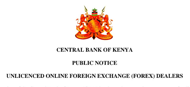 CBK Warns Public Against Fraudsters  in Forex trading