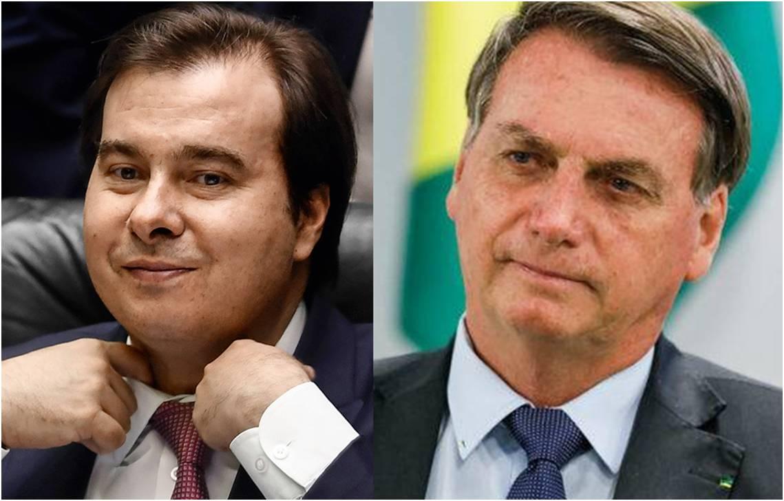 """Com popularidade de Bolsonaro em alta, Maia muda o tom na Câmara: """"Vai ter apoio"""""""
