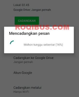 Melihat Backup Whatsapp di Google Drive