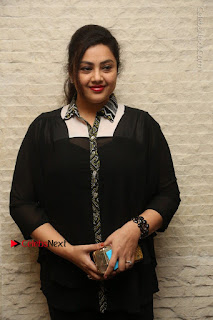 Tamil Actress Meena Latest Stills in Black Dress at TSR TV9 Awards Press Meet  0020.JPG