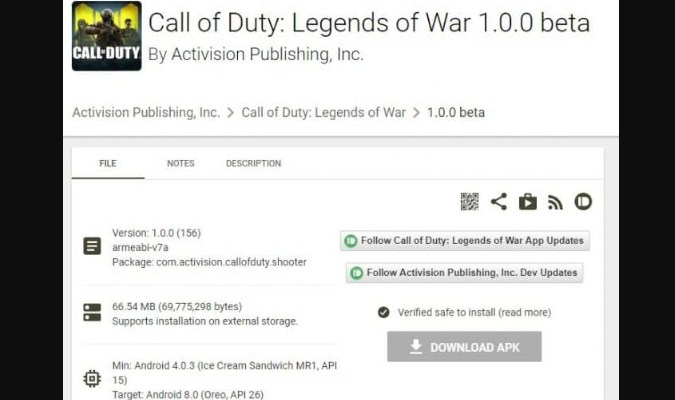 Cara Instal Call of Duty: Mobile di Android - Apk Call of Duty: Legends of War
