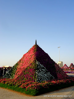 pyramid at Dubai Miracle Garden